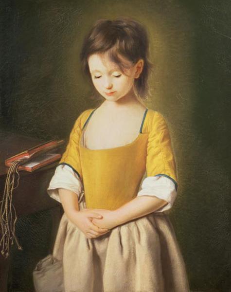 Pietro Antonio Rotari, La Penitente (Portrait of a Young Girl), c.1750, The Trustees of the Weston Park Foundation, UK. Wiki Commons.