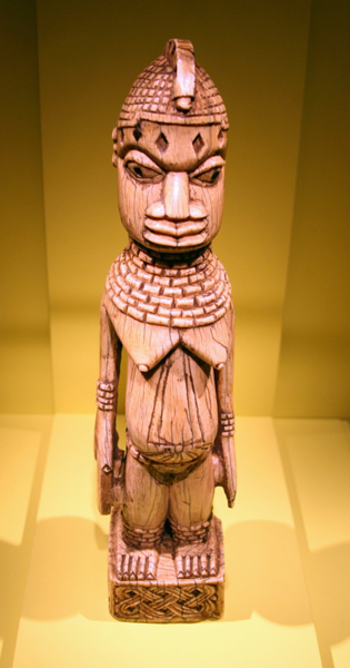 Unknown, Young female figure, Benin kingdom court style, Edo peoples, Nigeria, c.1825, National Museum of African Art. Wiki Commons, cliff1066.
