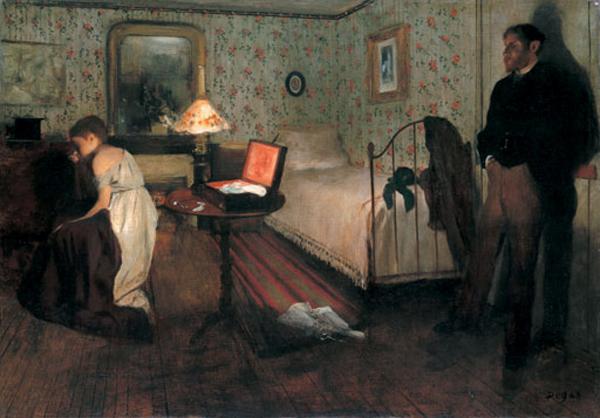 Edgar Degas, Intérieur (nickname The Rape), 1868-9, Philadelphia Museum of Art. Wiki Commons.