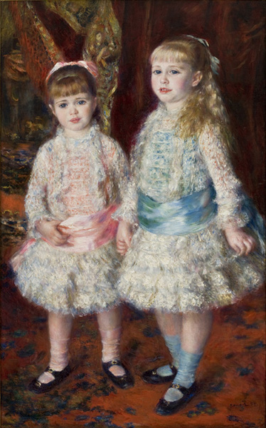 Pierre-Auguste Renoir, Pink and Blue (Alice and Elisabeth Cahen d'Anvers), 1881, S√£o Paulo Museum of Art, S√£o Paulo. Wiki Commons.