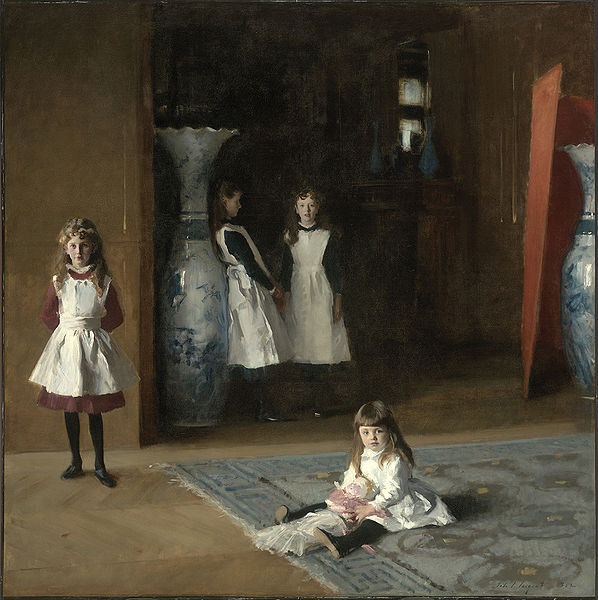 John Singer Sargent, The Daughters of Edward Darley Boit, 1882, Museum of Fine Arts, Boston. Wiki Commons.
