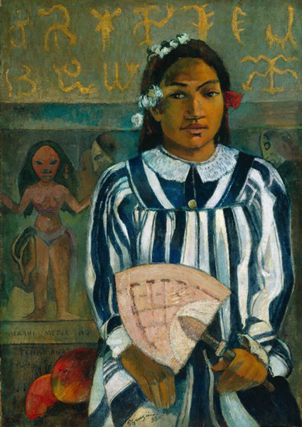 Paul Gauguin, Marahi Metua No Tehamana (Tehamana Has Many Ancestors), 1893, The Art Institute of Chicago. Wiki Commons.