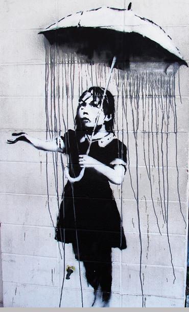 Banksy- Umbrella Girl