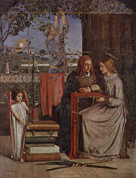 2B_Rossetti_Girlhood of Mary Virgin