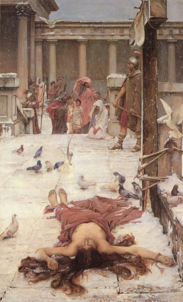 St. Eulalia, J.W. Waterhouse, 1885, Oil on canvas, Tate Gallery, London. WikiCommons .