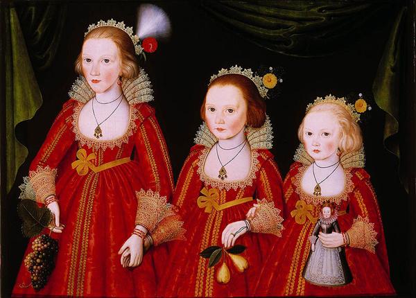 Follower of William Larkin, Three Young Girls, c.1585-1619, Denver Art Museum, Denver, Colorado. Wiki Commons.