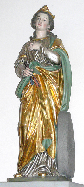Christina von Bolsena, Moriz Schlachter (sculptor), c.1889, Ravensburg source Andreas Praefcke (photographer), 2006, WikiCommons.
