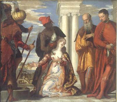 The Martyrdom of St. Justine, Veronese, c.1573, Oil on canvas, Uffizi Gallery, Florence. WikiCommons.