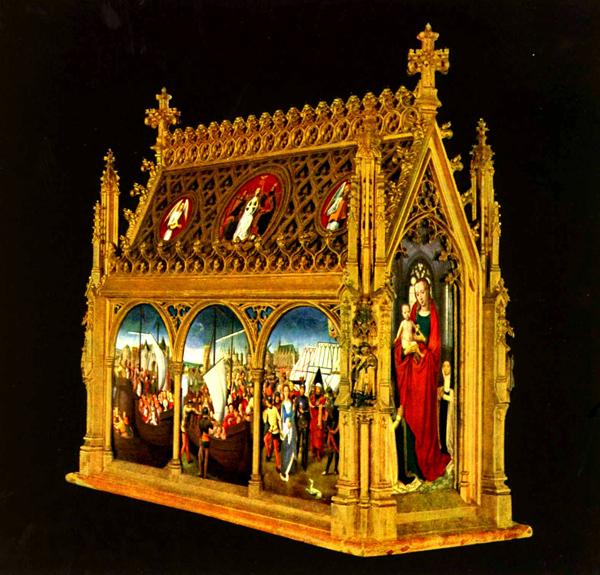 St. Ursula Shrine, Hans Memling, 1489, Oil on wood, Memling Museum, Bruges, WikiCommons.