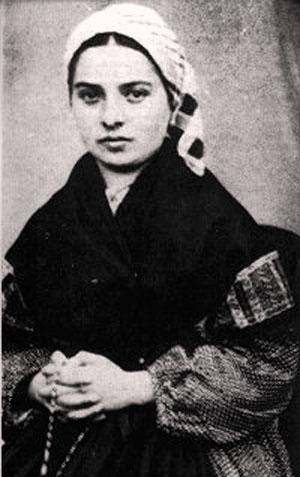 Bernadette Soubirous, c.1860. Unknown photographer and location.