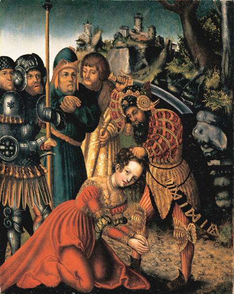 The Martyrdom of Saint Barbara, Lucas Cranach the Elder, c.1510, Oil on wood, Metropolitan Museum of Art, New York.