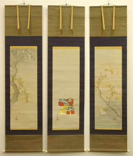 Nozaki Shin'ichi, Hanging Scroll, 19th Century. British Museum, London. Hina Matsuri