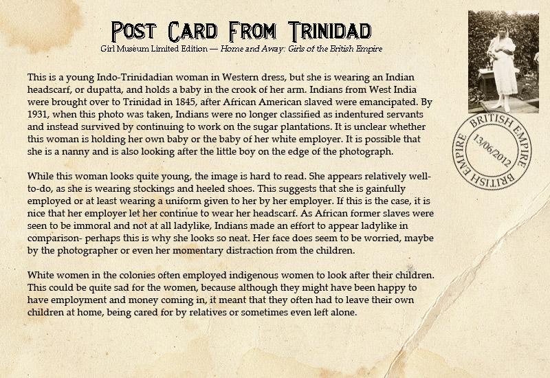 Postcard-TrinidadGirl