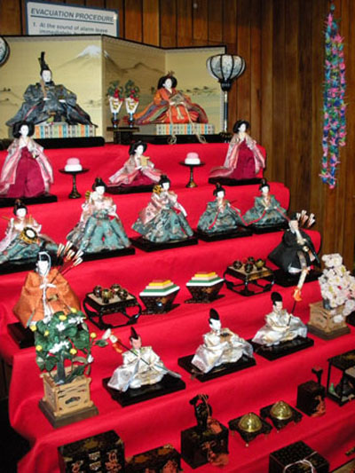 Hina display at Hina Matsuri exhibition at the Auckland New Zealand 'Taste of Japan' festival in August 2010.