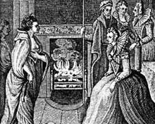 The meeting of Grace O'Malley and Queen Elizabeth I of England.