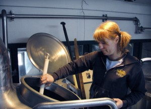 Bend Brewing Company brewmaster Tonya Cornett pulls a sample of hot wort. Cornett is the first woman to win a prestigious World Beer Cup Champion Brewery and Brewmaster at the annual World Beer Cup awards.