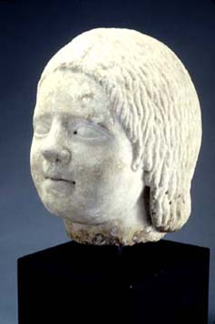 Roman Girl, ca. 50 AD, from the Riley Collection of Roman Portrait Sculpture at Cedar Rapids Museum of Art.
