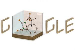 Dorothy Hodgkin's Google Doodle.