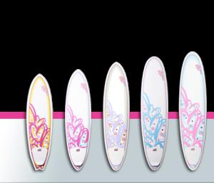 Surf Betty boards surfer girl girl museum