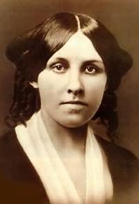 Louisa May Alcott, aged around 25.
