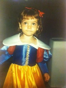 Junior Girl Madison Becker in a snow white costume