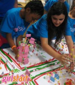 Girls participating in GirlStart programs. Image courtesy GirlStart.