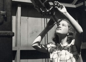 Vera Rubin as an astronomy student in 1948.  Image courtesy Vassar College.
