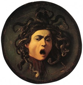 Medusa, by Caravaggio (1595).