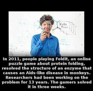 Infographic -- Foldit protein folding