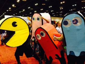 Cosplayers as Pac-Man characters at MegaCon 2015.  Source: Tiffany Rhoades.