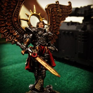 One of the Sisters of Battle from Warhammer40k, a tabletop war-game.  Source: Tiffany Rhoades.
