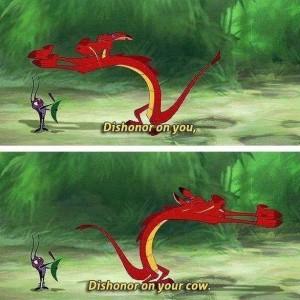 Screenshot of Mushu from Disney's Mulan (1998).