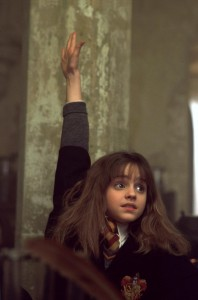 Emma Watson as Hermione Granger in the movie adapation of Harry Potter and the Soceror's Stone.