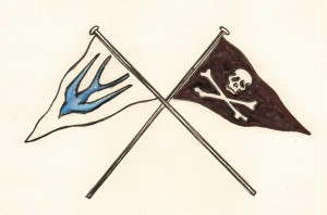 The flag from Swallows and Amazons.
