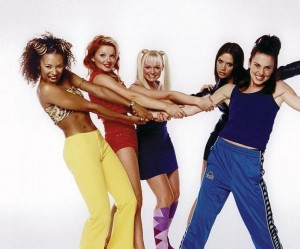 Scary, Ginger, Baby, Posh, and Sporty Spice.