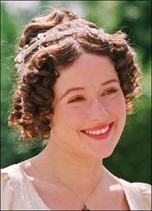 Jennifer Ehle as Eliza Bennett in the BBC's adaptation of Pride and Prejudice.