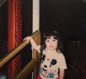 Amanda as a child