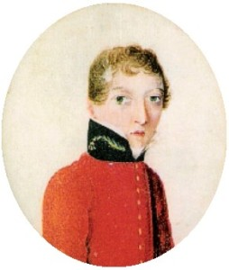 Miniature portrait of James Barry, painted between 1813 and 1816.