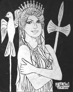 Clytemnestra, the Queen of Mycenae. Image from http://www.rwaag.org/clytem.