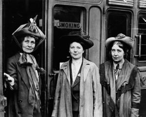 Emmeline Pankhurst, Christabel Pankhurst and Sylvia Pankhurst