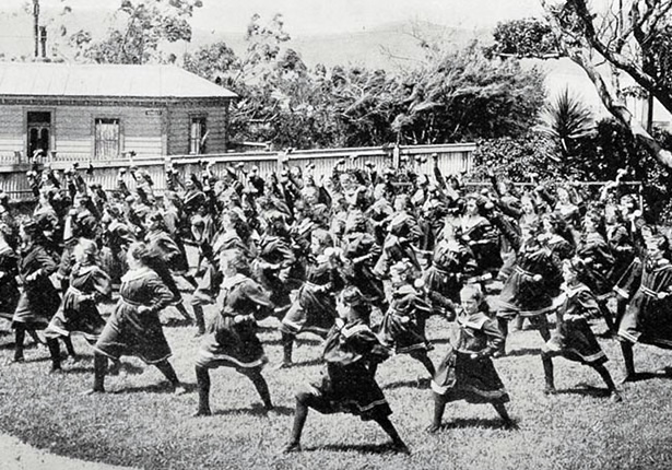 Wellington High School Girls Drill Class, 'Keeping children healthy', Ministry for Culture and Heritage, updated 22-Sep-2015