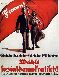 Poster of the Social Democratic Party (SPD) for the elections to the Weimar National Assembly in 1919.