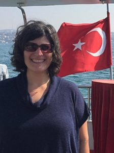 Ashley E. Remer with a Turkish flag