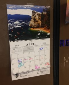 The calendar that inspired discussion.