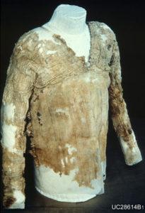The Tarkhan dress at the Petrie Museum, London.
