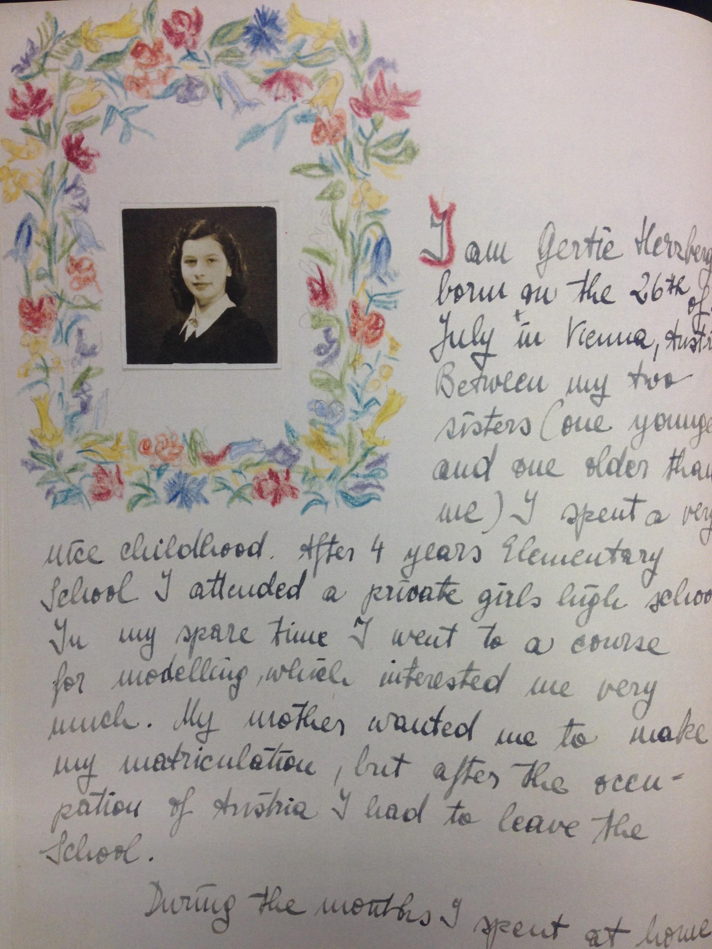 Diary, Gertie Herzberg.