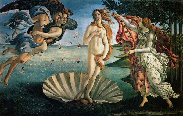 Botticelli's The Birth of Venus. Image courtesy of the Uffizi Museum.