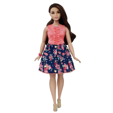 One of the new Barbies