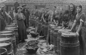 Herring girls in Berwick-upon-Tweed. Image from Berwick Record Office.