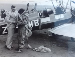 At 17, Jackie was the first woman to do a parachute jump in South Africa.Image courtesy Candida Adkins.